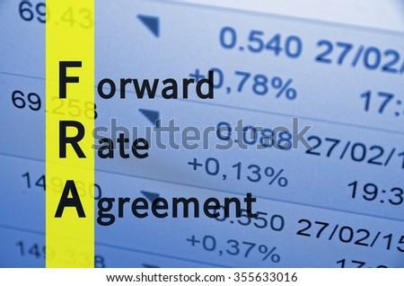 Acronym Fra Forward Rate Agreement Stock Illustration 355633016