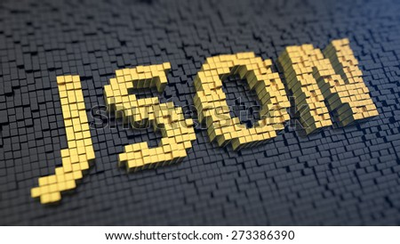 acronym json of the yellow square pixels on a black matrix background javascript