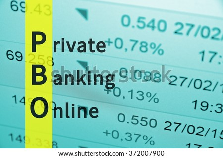 Acronym PBO as Private Banking Online.