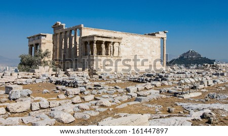 Acropolis ancient ruins in Athens, Greece