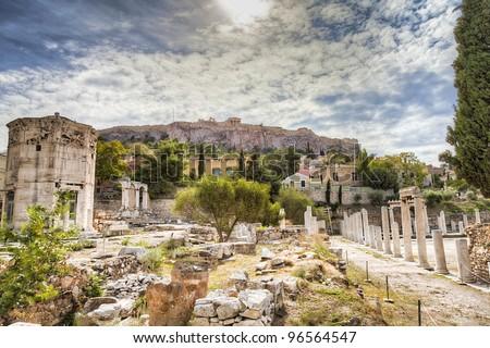 acropolis,athens,Greece - stock photo