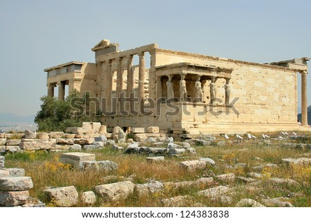 Acropolis, Erectheion in Athens, Greece