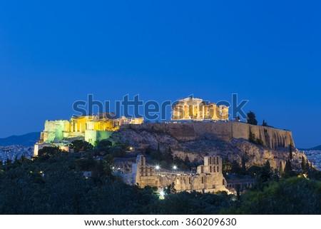 Acropolis of Athens,Greece  - stock photo