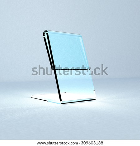 Acrylic card holder for events isolated transparent object