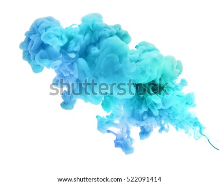 Acrylic colors in water. Abstract background. Isolated.