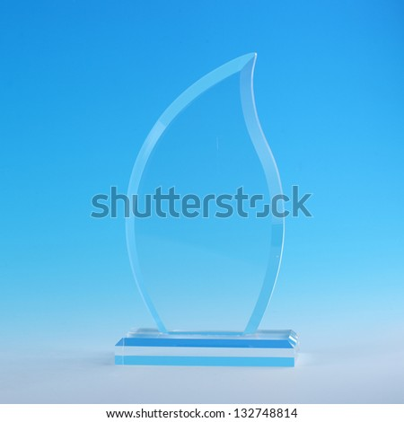 acrylic cup, glass award - stock photo