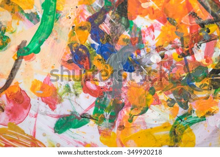 Acrylic paints for art design background  - stock photo