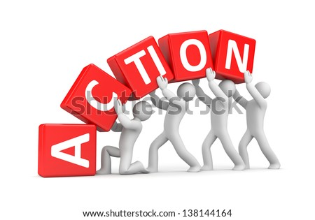 Action metaphor - stock photo