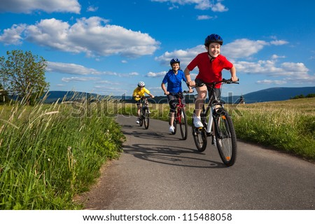 Active family biking