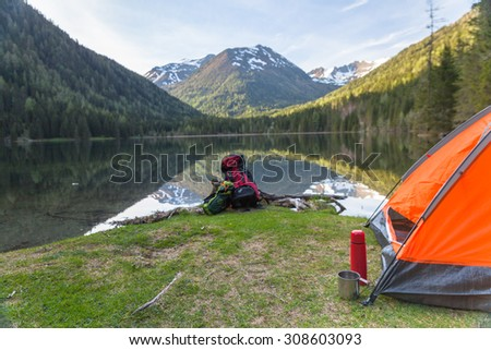 active holiday in the mountains alps