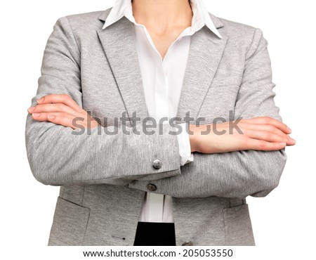 active woman crossing her arms - stock photo