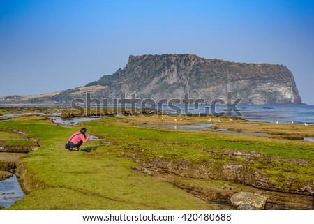 Activity at Jeju Island, South Korea - stock photo