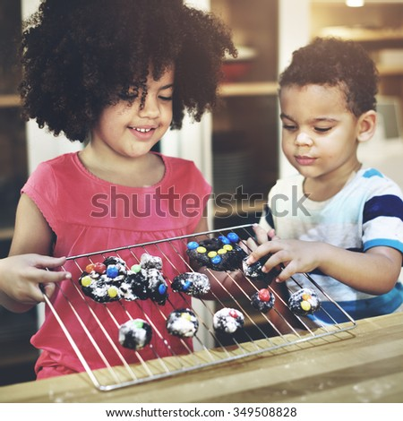 Activity Brother Sister Child Sibling Learning Kids Concept - stock photo