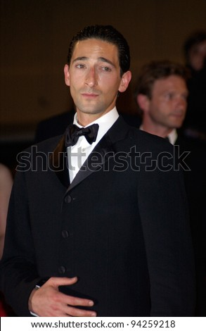 Actor ADRIEN BRODY at the Cannes Film Festival for the premiere of his new movie The Pianist. 24MAY2002.   Paul Smith / Featureflash