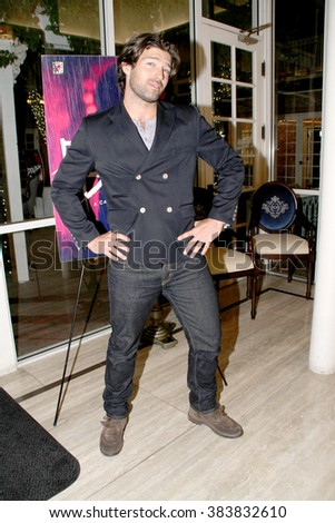 """Actor and model Bo Roberts arrives at Victoria Pratt's """"Double Down"""" book signing at the  Horton Grand Hotel in San Diego, CA on Feb. 26, 2016.  - stock photo"""