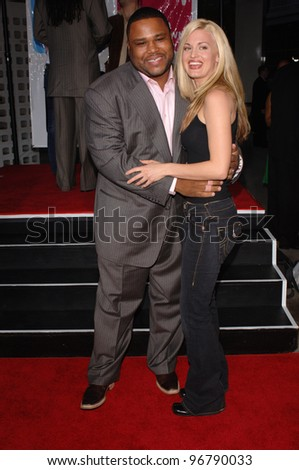 Actor ANTHONY ANDERSON & actress BROOKE D'ORSAY at the Los Angeles premiere of their new movie King's Ransom. April 21, 2005 Los Angeles, CA.  2005 Paul Smith / Featureflash
