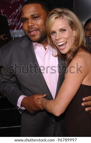 Actor ANTHONY ANDERSON with actress CHERYL HINES at the Los Angeles premiere of his new movie King's Ransom. April 21, 2005 Los Angeles, CA.  2005 Paul Smith / Featureflash