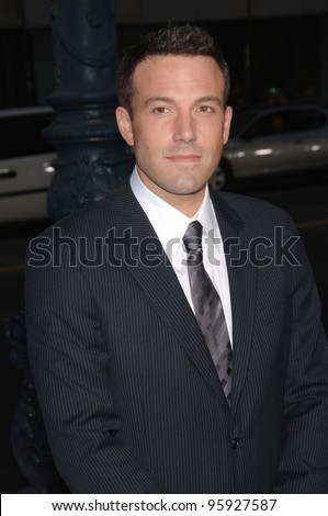 "Actor BEN AFFLECK at the Los Angeles premiere of his new movie ""Hollywoodland"". September 7, 2006  Los Angeles, CA  2006 Paul Smith / Featureflash"