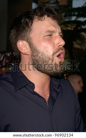 Actor BEN AFFLECK at the world premiere, in Hollywood, of The Bourne Supremacy. July 15, 2004