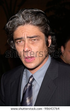 Actor BENICIO DEL TORO at the world premiere, in Hollywood, of his new movie The Pledge. 09JAN2001.   Paul Smith/Featureflash
