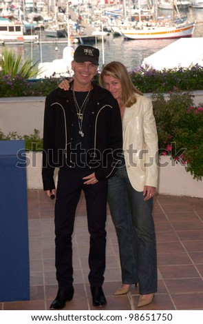 Actor BILLY BOB THORNTON & actress FRANCES McDORMAND at the Cannes Film Festival to promote their new movie The Man Who Wasn't There. 13MAY2001.  Paul Smith/Featureflash