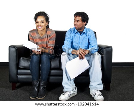 actor casting session - stock photo