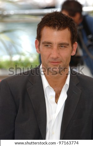 Actor CLIVE OWEN at the 58th Annual Film Festival de Cannes to promote his movie Sin City. May 18, 2005 Cannes, France.  2005 Paul Smith / Featureflash - stock photo