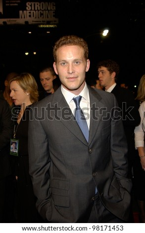 Actor COLE HAUSER at the world premiere, in Los Angeles, of his new movie Hart's War. 12FEB2002.  Paul Smith/Featureflash