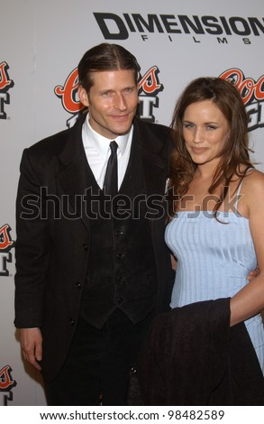 Actor CRISPIN GLOVER & girlfriend AMY AUBUCHON at the Los Angeles premiere of his new movie Bad Santa. November 18, 2003  Paul Smith / Featureflash