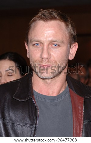 Actor DANIEL CRAIG (the new James Bond) at an industry screening for his new movie Munich. December 20, 2005.  Beverly Hills, CA  2005 Paul Smith / Featureflash - stock photo