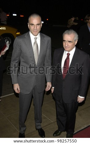 Actor DANIEL DAY LEWIS (left) & director MARTIN SCORSESE at the Broadcast Film Critics 8th Annual Critics' Choice Awards at the Beverly Hills Hotel. 17JAN2003.   Paul Smith / Featureflash - stock photo