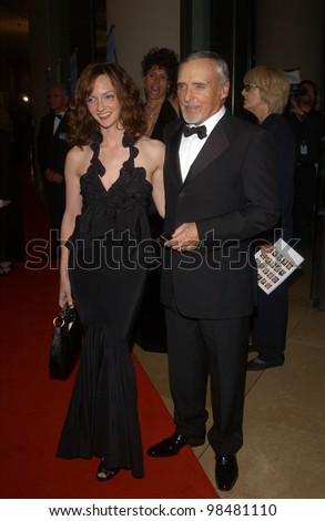 Actor DENNIS HOPPER & wife at the 18th Annual American Cinematheque Gala honoring Nicole Kidman. November 14, 2003  Paul Smith / Featureflash