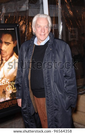 Actor DONALD SUTHERLAND at the Los Angeles premiere of his new movie Ask the Dust. March 2, 2006  Los Angeles, CA.  2006 Paul Smith / Featureflash