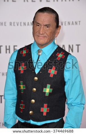"Actor Duane Howard at the Los Angeles premiere of his movie ""The Revenant"" at the TCL Chinese Theatre, Hollywood.  December 16, 2015  Los Angeles, CA Picture: Paul Smith / Featureflash - stock photo"