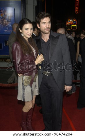 Actor DYLAN McDERMOTT & wife SHIVA ROSE at the Los Angeles premiere of his new movie Wonderland. Sept 24, 2003  Paul Smith / Featureflash