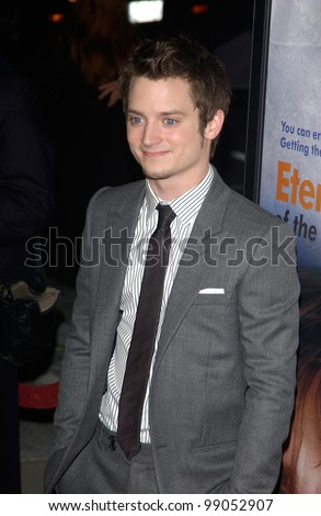 Actor ELIJAH WOOD at the world premiere of his new movie Eternal Sunshine of the Spotless Mind, in Beverly Hills, CA. March 9, 2004