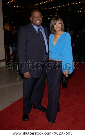 Actor Forest Whitaker Wife Los Angeles Stock Photo 98237603 ...