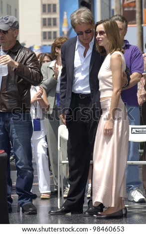 Actor Harrison Ford Girlfriend Actress Calista Stock Photo