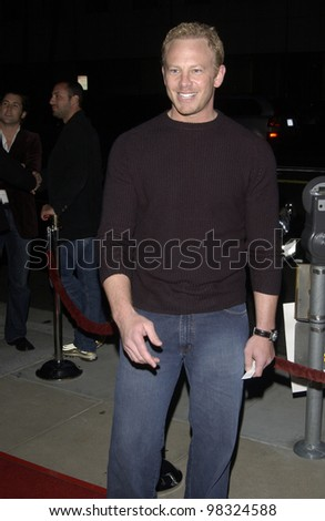 Actor IAN ZIERING at the Los Angeles premiere of Confidence. April 15, 2003