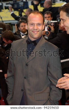 Actor JASON STATHAM at the premiere of Punch-Drunk Love which is in competition at the Cannes Film Festival. 19MAY2002.   Paul Smith / Featureflash