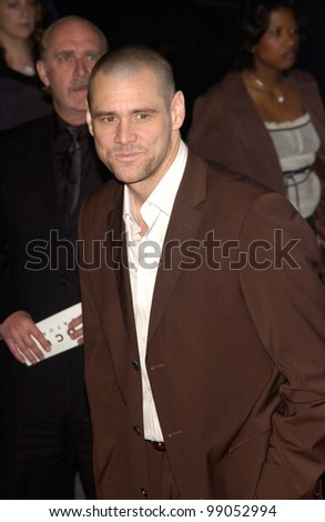 Actor JIM CARREY at the world premiere of his new movie Eternal Sunshine of the Spotless Mind, in Beverly Hills, CA. March 9, 2004