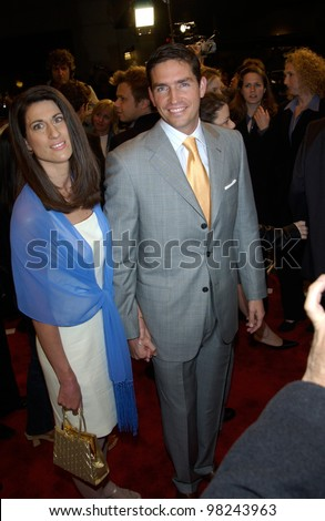 Actor JIM CAVIEZEL & wife at the Los Angeles premiere of his new movie High Crimes. 03APR2002.   Paul Smith / Featureflash