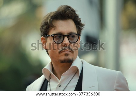 Actor Johnny Depp attends the 'Pirates of the Caribbean: On Stranger Tides' Premiere during the 64th Annual Cannes Film Festival at Palais des Festivals on May 14, 2011 in Cannes, France. - stock photo