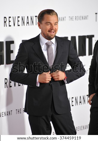 Actor Leonardo DiCaprio at the Los Angeles premiere of his movie