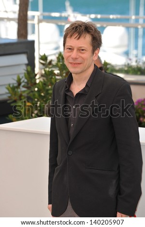 "Actor Mathieu Amalric at the photocall for his movie ""Venus in Fur"" in competition at the 66th Festival de Cannes. May 25, 2013  Cannes, France"