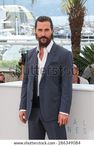 Actor Matthew McConaughey, Naomi Watts attend the The Sea of Trees photocall during the 68th annual Cannes Film Festival on May 16, 2015 in Cannes, France. - stock photo