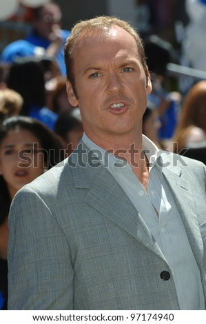 Actor MICHAEL KEATON at the world premiere, on Hollywood Boulevard, of his new movie Walt Disney Pictures' Herbie: Fully Loaded. June 19, 2005 Los Angeles, CA  2005 Paul Smith / Featureflash - stock photo