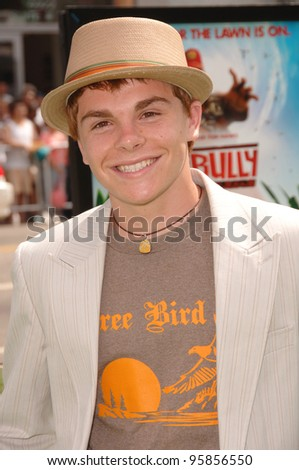 "Actor MYLES JEFFREY  at the Los Angeles premiere of ""The Ant Bully."" July 23, 2006  Los Angeles, CA  2006 Paul Smith / Featureflash"
