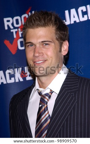 Actor NICK ZANO at party at Warner Bros Studios, Hollywood, for Rock the Vote. September 29, 2004
