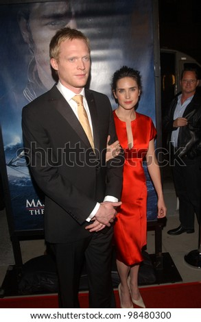 Actor PAUL BETTANY & wife actress JENNIFER CONNELLY at the Los Angeles premiere of his new movie Master and Commander. November 11, 2003  Paul Smith / Featureflash